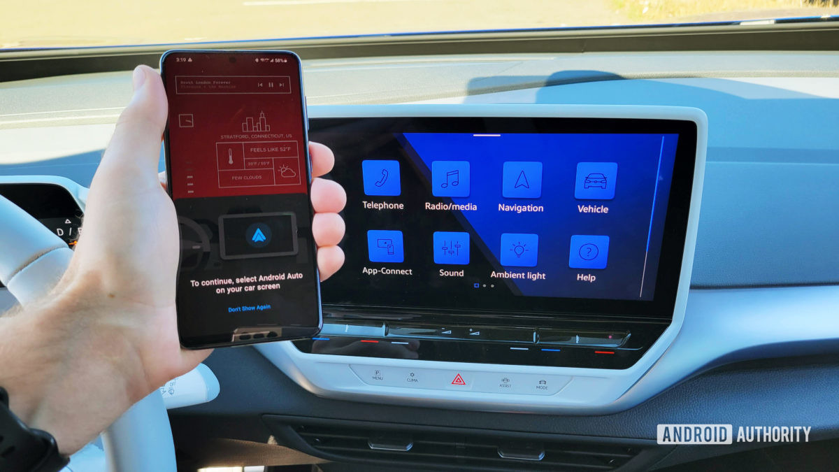 Android Auto in Volkswagen ID.4 Connecting With Smartphone