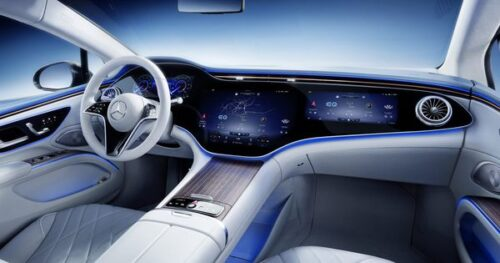 Here's a closer look at the interior of the new electric Mercedes-EQS