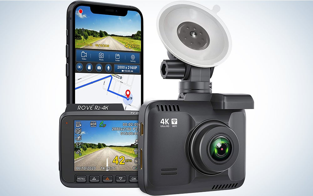 """Rove R2- 4K Dash Cam Built in WiFi GPS Car Dashboard Camera Recorder with UHD 2160P, 2.4"""" LCD, 150° Wide Angle, WDR, Night Vision has some of the best dash cam reviews."""